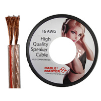 16AWG Audio Speaker Cable HD HIFI  Figure 8 transparent PVC Cable